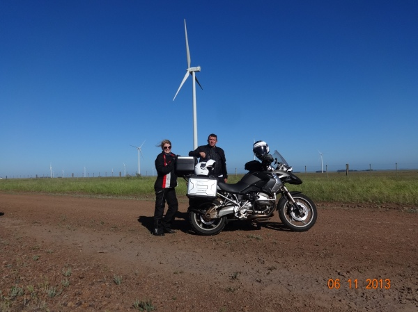 no parque eólico de Peralta