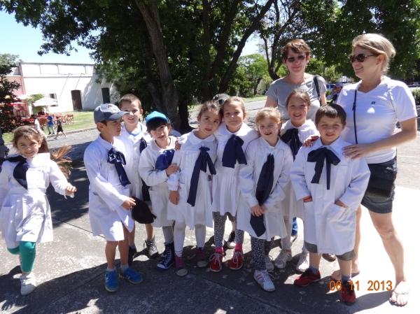 Ana e a Nelci se deram bem com as crianças uruguaias