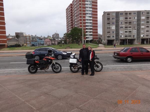 chegada em Montevidéu