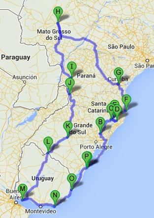 mapa viagem uruguai 11