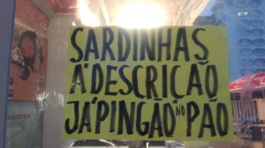 Sardinhas deliciosas, na Caparica