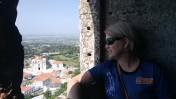 Vista do Castelo, da cidade de Palmela.