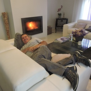 Descansando com Lareira