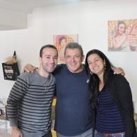 Com Vinicius e Lili